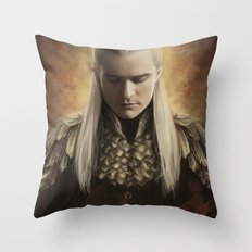 Legolas Desolation of Smaug Throw Pillow