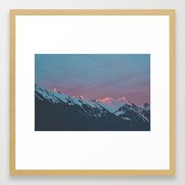A Swiss Sunset Framed Art Print