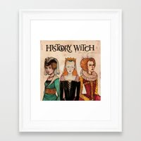 art history Framed Art Prints featuring History Witch Logo Art by The History Witch