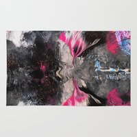 rorschach Area & Throw Rugs featuring RORSCHACH by ....