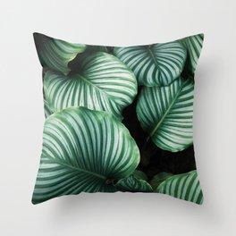 Foliage x Shiny Throw Pillow