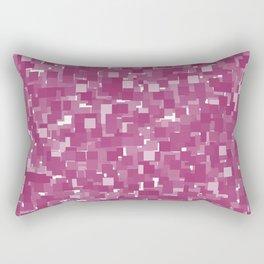 Festival Fuchsia Pixels Rectangular Pillow