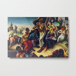 African American Masterpiece 'Arts of the South' by Thomas Hart Benton Metal Print