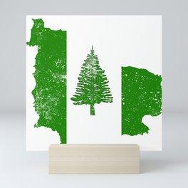 Distressed Norfolk Island Map Mini Art Print