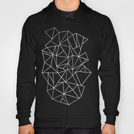 Abstraction Outline Black and White Hoody