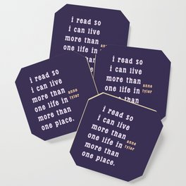 I read so I can live... Coaster