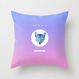COPYCAT Throw Pillow