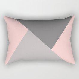 Geometric pattern pink/grey Rectangular Pillow