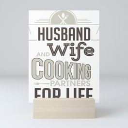 Marriage Husband and Wife Cooking Partners for Life Mini Art Print