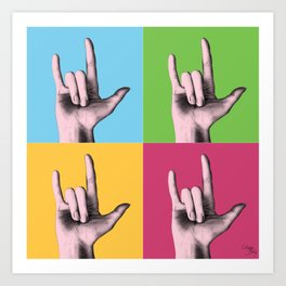 """I love you"" in sign language Art Print"
