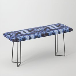 Blue Oxford Shibori Bench