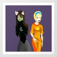homestuck Art Prints featuring Beta Babes by Paula Urruti