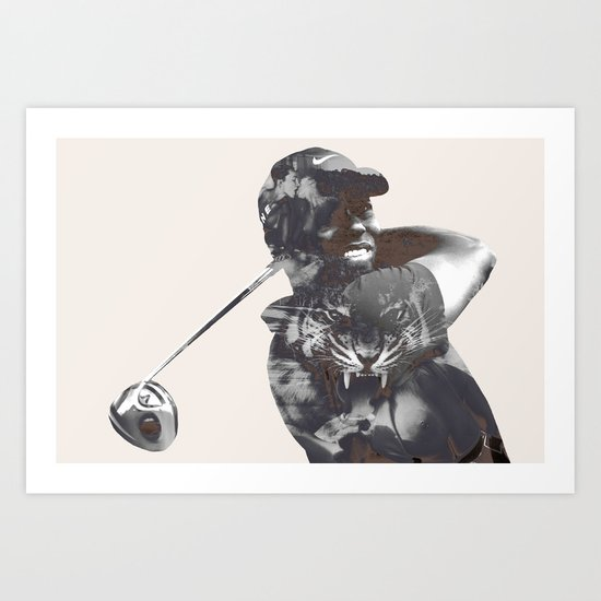 Sir Tiger Woods Art Print