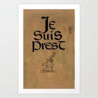 outlander Art Prints featuring Je Suis Prest by Skart87