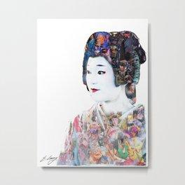 The Layering of the komono Metal Print