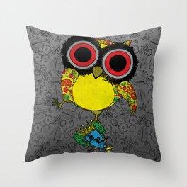 Printed Owl Throw Pillow