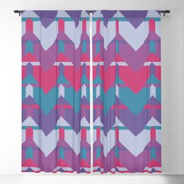Cool Waves #society6 #violet #pattern Blackout Curtain
