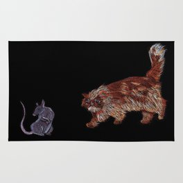 Crookshanks and Scabbers Rug