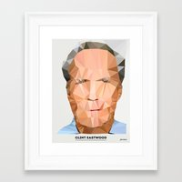 clint eastwood Framed Art Prints featuring Clint Eastwood by feeldesain