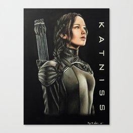 "Katniss Everdeen Mockingjay Part 1  ""Fire Is Catching"" | Drawing Canvas Print"