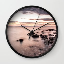 Disappearing clouds Wall Clock