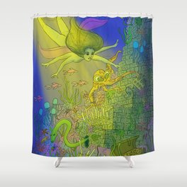 UNDERSEA DREAMS Shower Curtain