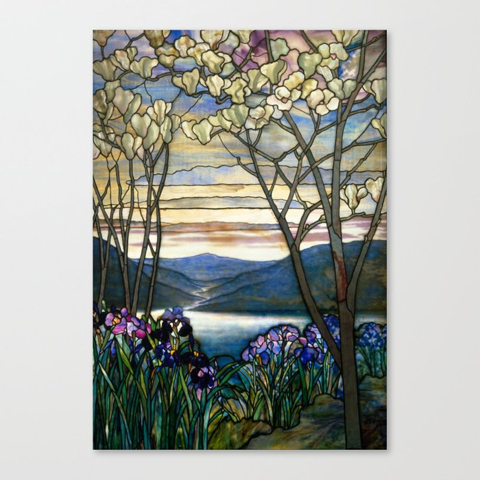 Charming Louis Comfort Tiffany   Decorative Stained Glass 5. Canvas Print