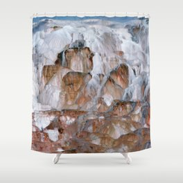 Mammoth Hot Springs Yellowstone Shower Curtain