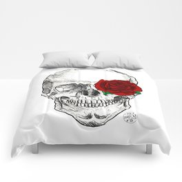 Rose Skull Comforters