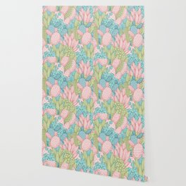 Pastel Cacti Obsession #society6 Wallpaper