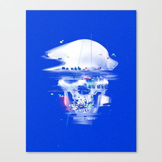Blue glitch of death Canvas Print