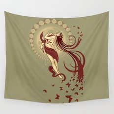 Madame Butterly Wall Tapestry