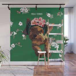 Frida-Terrier Wall Mural