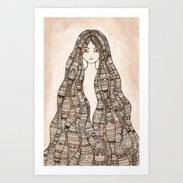 The Maori girl ~ revisited Art Print
