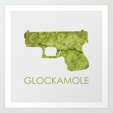 Glockamole Art Print