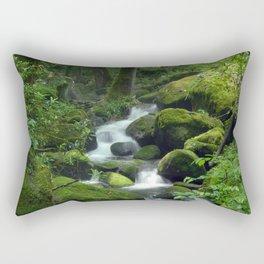 Summer Forest Brook Rectangular Pillow