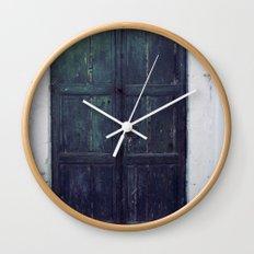 Santorini Door II Wall Clock