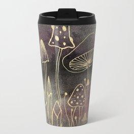 Golden Shrooms Travel Mug