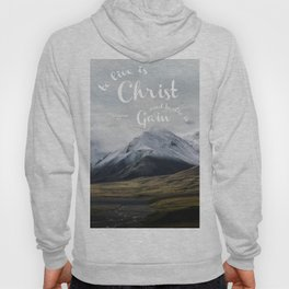 To Live is Christ and to Die is Gain Philippians 1:21 Typography Bible Landscape Art Hoody