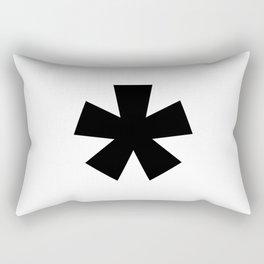 Asterisk (Black & White) Rectangular Pillow