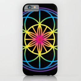 Sacred Symbols Rainbow Chakra iPhone Case