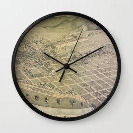 El Paso 1886 Wall Clock