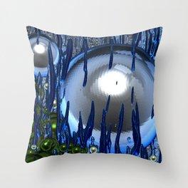 God lives under water Throw Pillow