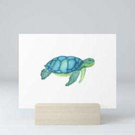 Les Animaux: Sea Turtle Mini Art Print