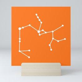 Sagittarius (White & Orange) Mini Art Print