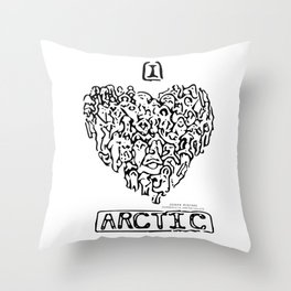 I Heart Arctic By Joseph Winters Throw Pillow