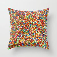 sprinkles Throw Pillows featuring Sprinkles by Rupert & Company