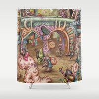 grease Shower Curtains featuring Grease! by Andy Hopp