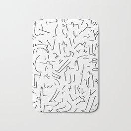 doodle people 2 Bath Mat