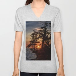 Sunset through the Trees Unisex V-Neck